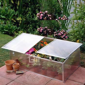 G-MORE Lightweight Portable Mini Cold Frame Greenhouse with Double Opening Vents / Growbox 3MM Cheap Greenhouse for Promotion