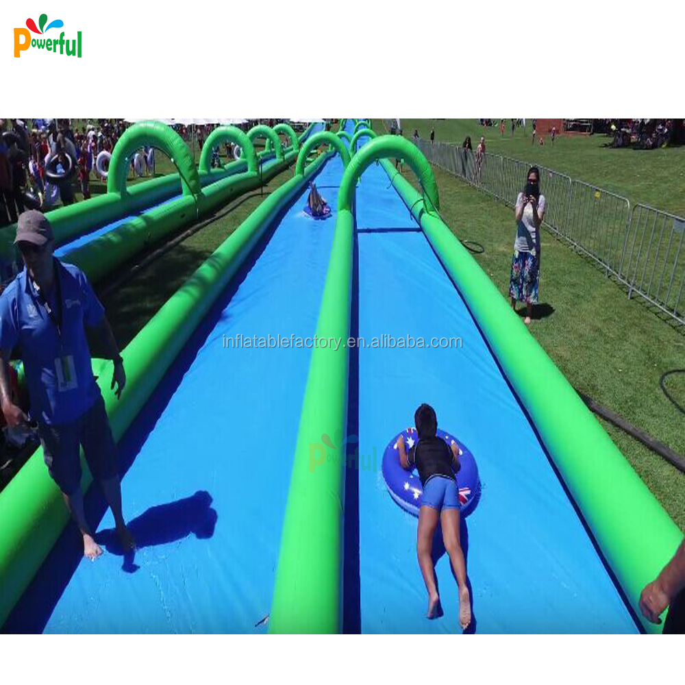 100m long size slip and <strong>slide</strong> inflatable water <strong>slide</strong> for water game
