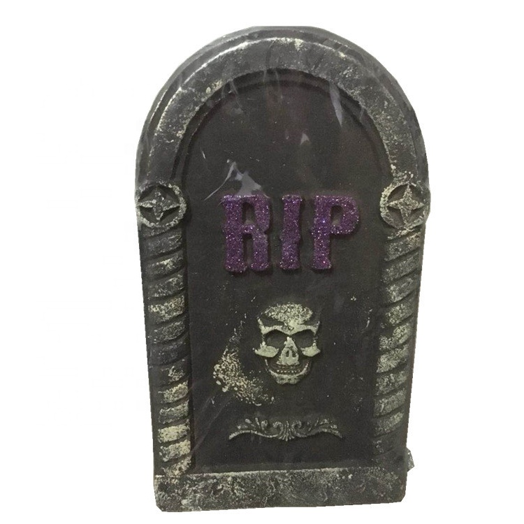 halloween flashing foam plastic tombstone for bar