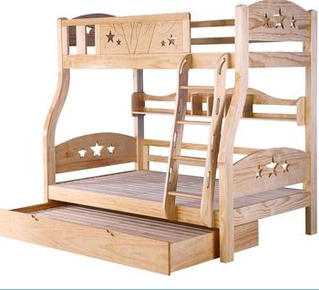 China Manufacturer kids bed baby Double-deck bed latest wood double bed designs with box