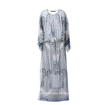 9f716e1777 Custom Chiffon Kaftan Maxi Dress/Ladies Summer Evening Party Wear Wholesale