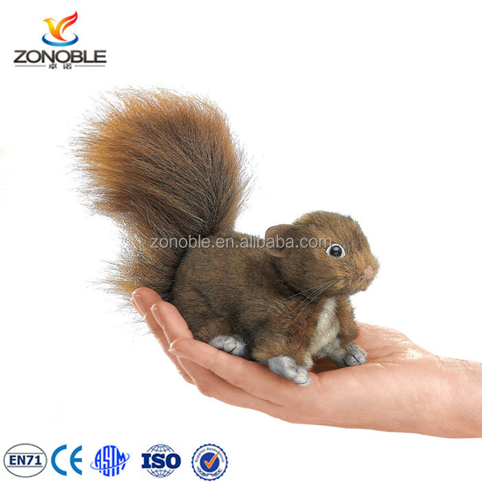 Custom cute plush squirrel toy lifelike fashion mini brown soft plush squirrel stuffed toy
