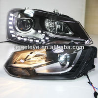 2011-2013 year for Cross Polo LED Angel Eyes Head Light with Bi Xenon Projector Lens TC