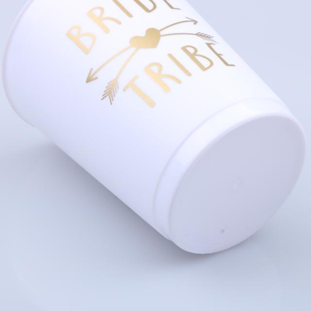 Bachelorette nguồn cung cấp bên trắng cốc nhựa làm cỏ đảng phụ kiện cô dâu cup