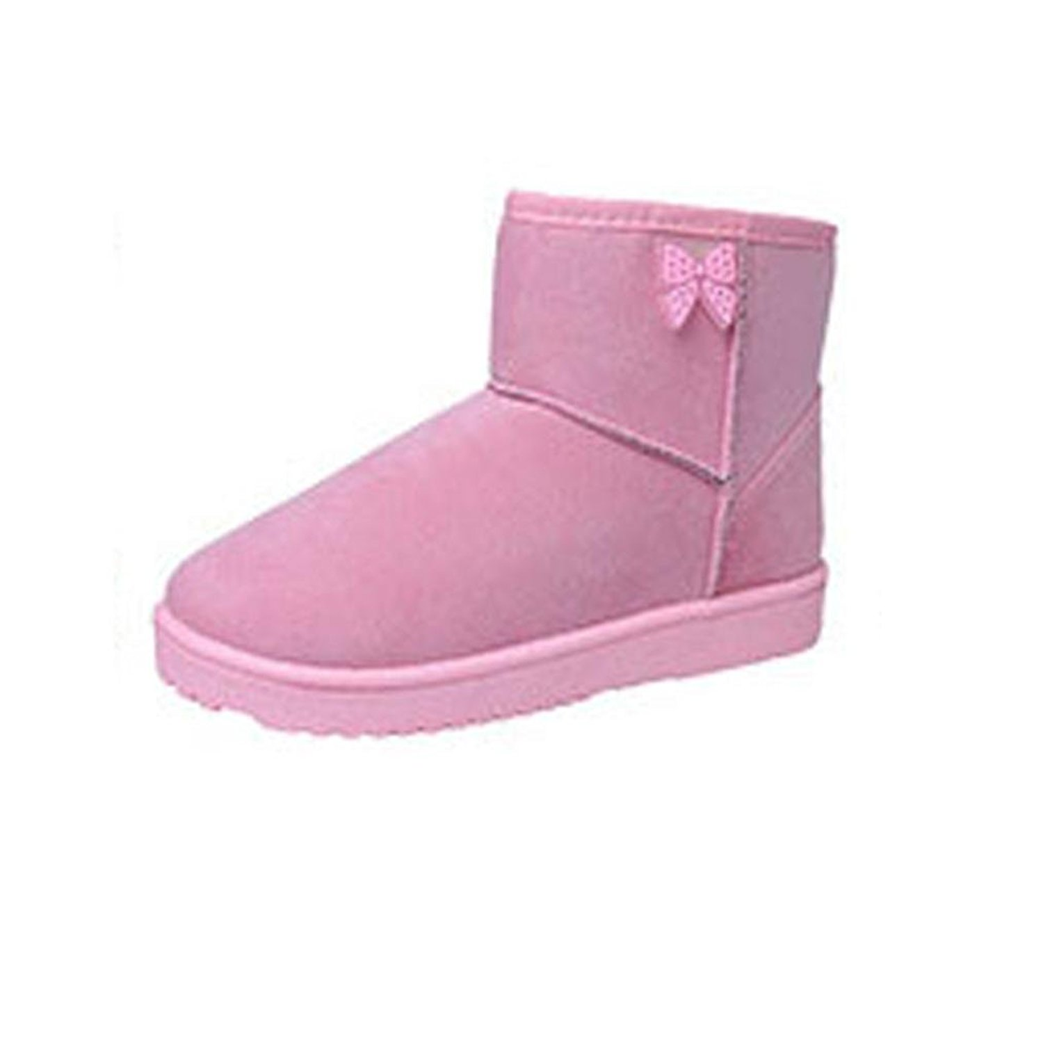 DEESEE(TM) Women Ankle Boots Fur Lined Winter Autumn Warm Snow Boots Shoes (US 7, Pink)