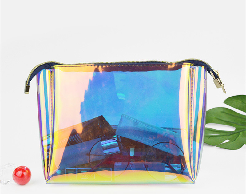 Speedbag makeup bag tpu holographic clear cosmetic pouch travel organizer