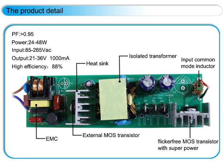 External Driver Led Circuit Diagram 1000ma 900ma 38w 40w Led ...