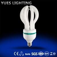 tri-color halogen E27 85W CFL Lotus Energy Saving Lamp electronic saving
