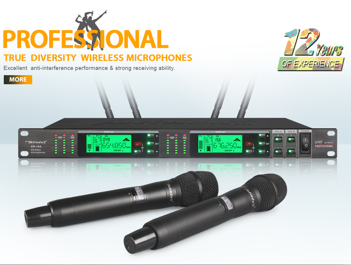 Enping Sanren Sound Equipment Factory Wireless Microphone Uhf