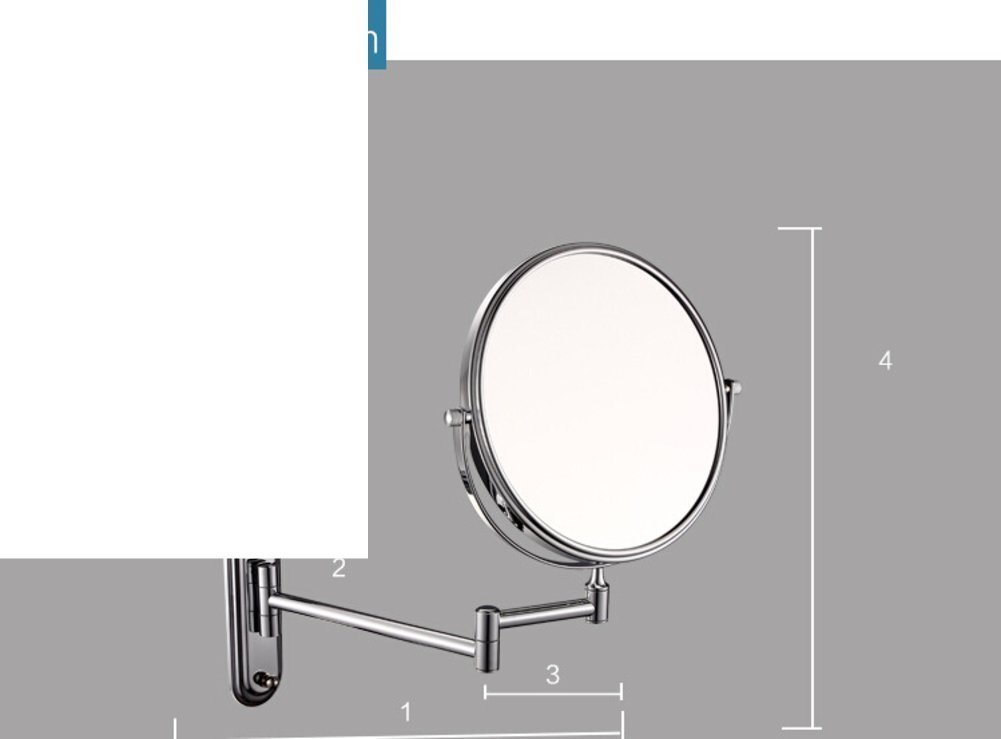 YAOHAOHAO Cosmetic mirror/bathroom walls Bathroom Mirrors Mirrors Telescope A- & double sided cosmetic mirror/-B