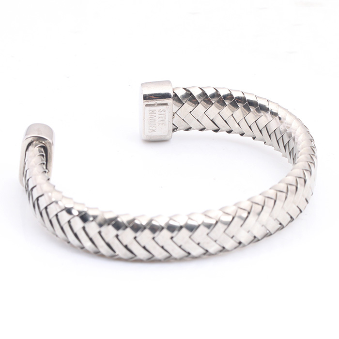 Steel Wrist Mesh Cuffs Stretch Bracelets, Metal Mens Stainless Steel Bangle Cuff