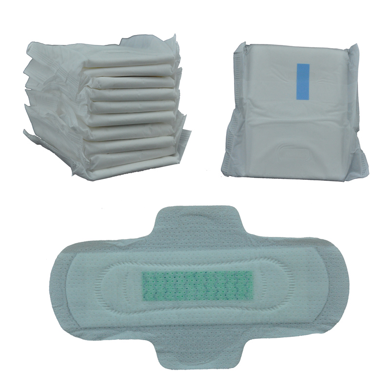 SN2458 Private Label Eco Friendly Bamboo Fibre Organic Cotton Disposable Menstrual Pads Elderly Female Sanitary Pads