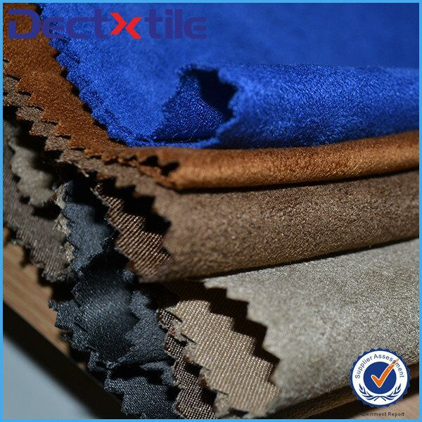 quality promised polyester five faux suede fabric for chair/sofa/jacket/others