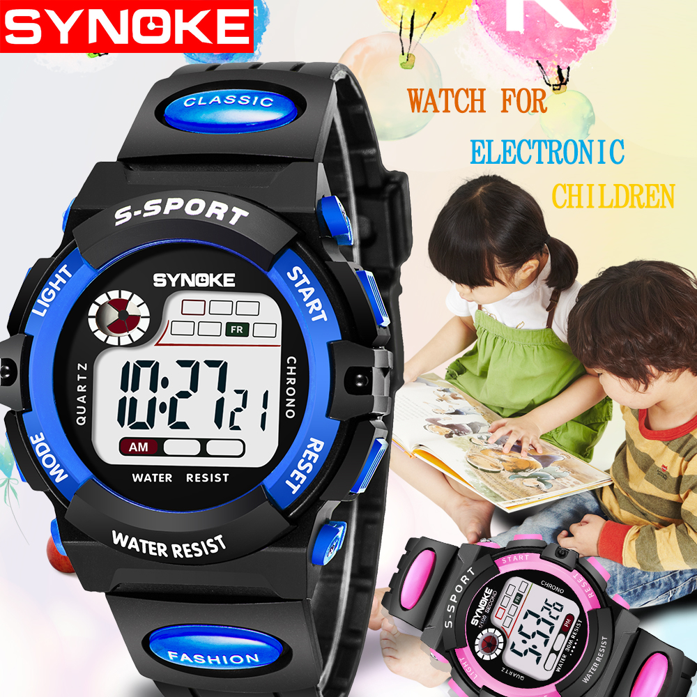 Watches Symbol Of The Brand Synoke Chlid Clock Motre Enfant Garcon Waterproof Watch Baby Girls Back Light Reloj Top Brand Dropship Strap Kids Watches Up-To-Date Styling