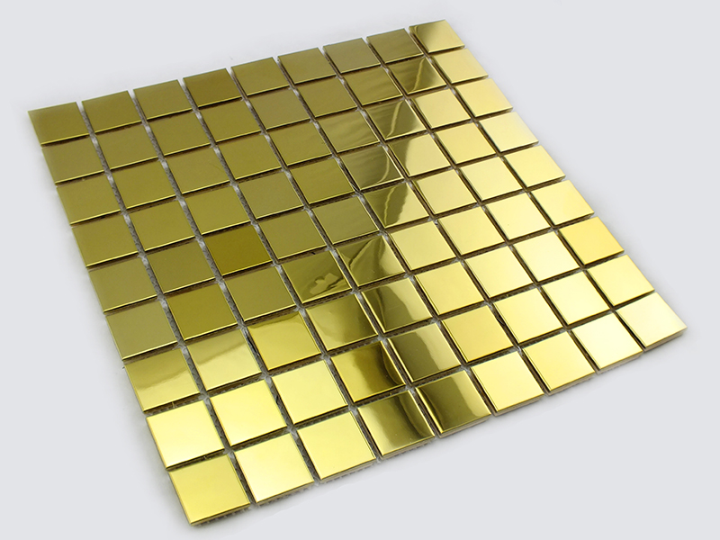 30 mm gold color metal mosaic for wall decor