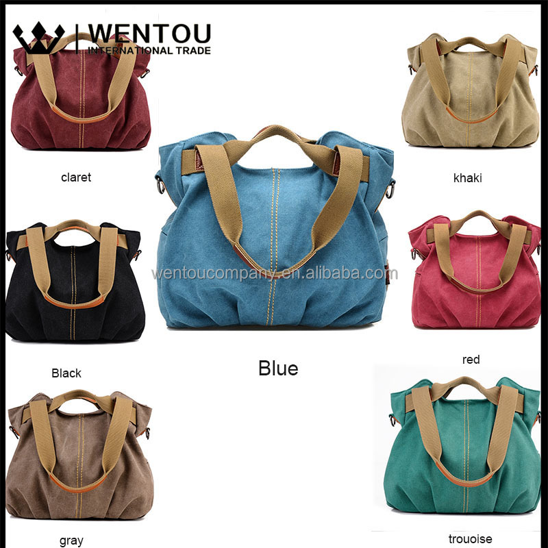 Wholesale New Fashion High Quality Retro Handbag Messenge Canvas Laptop Bag For Women