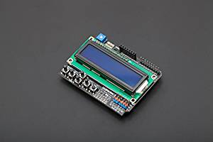 Angelelec DIY Open Sources Arduino, LCD Keypad Shield, Offers 2-Line 16 Character LCD Display Arduino Expansion Board, Extends The Plurality of Key Input, Extended Arduino Reset Button, USER-Friendly