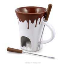Groothandel 3 Sets Keramische <span class=keywords><strong>Fondue</strong></span> Chocolade Mok Elk Met Vorken Chocolade <span class=keywords><strong>Fondue</strong></span> <span class=keywords><strong>Set</strong></span>