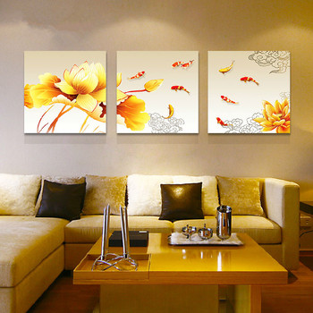 9 Kois Fish Oil Painting Canvas For Commercial Decor Wall Art Paint ...