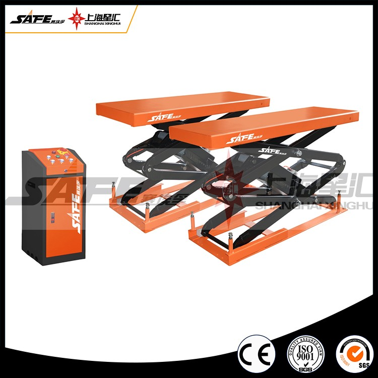 Full rise in ground scissor car lift price with CE