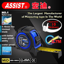 ASSIST novelty tape measure Metric&Inch blade nylon wrap 3m steel tape measure material
