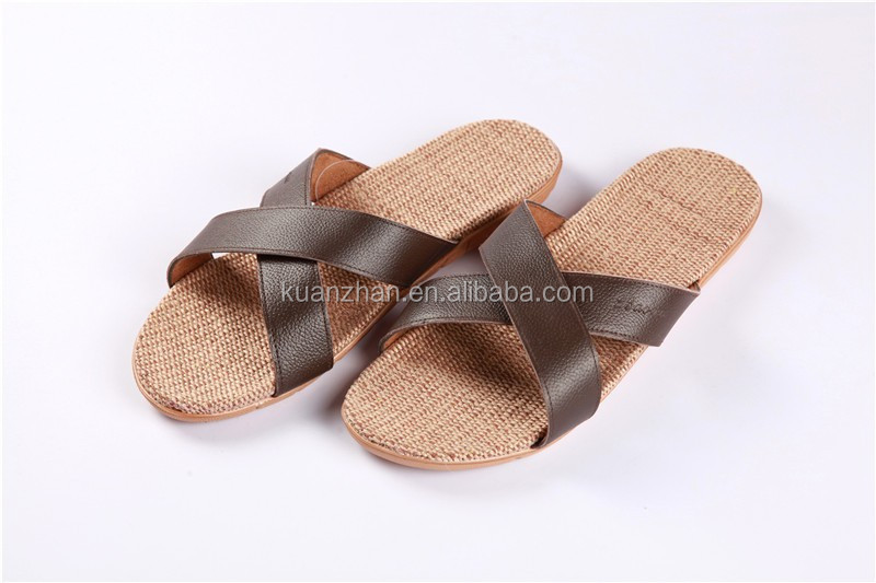 New Style Fashion Men Leather Slippers Sandals