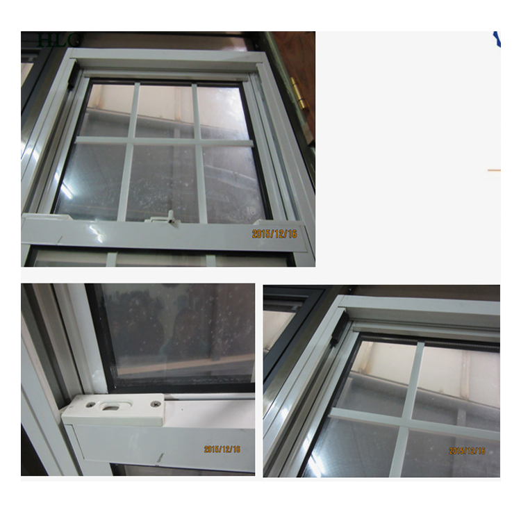 White color american style house window design 1.4mm frame thickness make aluminium window used aluminium single top hung window