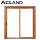 Wooden Color Single Swing Aluminium Sliding Doors Design with Tempered Glass for House
