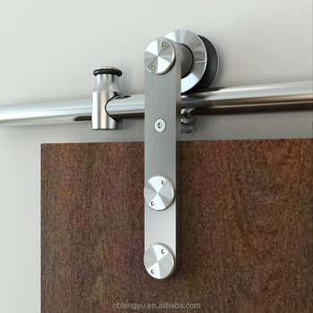 Stainless Steel Soft Close Wood Barn Door Hardware Sliding Door System