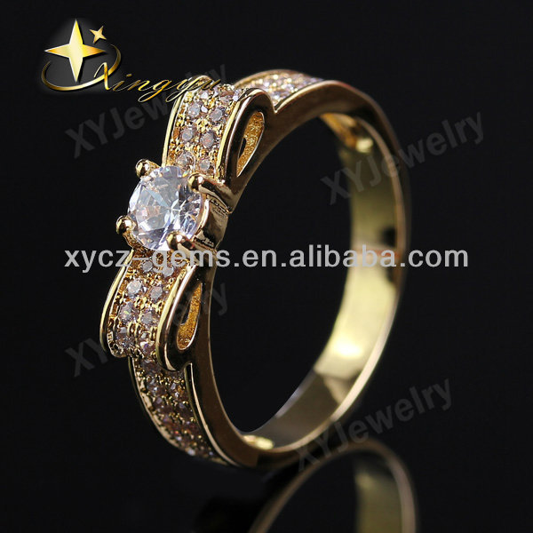 Butterfly 22k real gold plated rings brass jewelry online