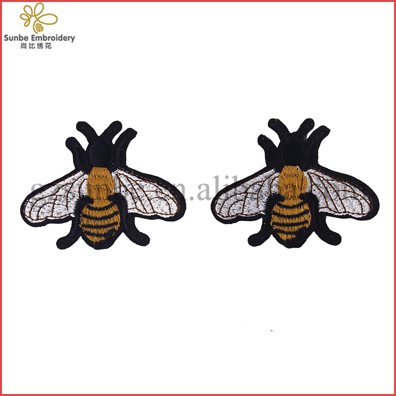 Number 5 Patch 4pc//set Iron on Rhinestones Patch,Bling Yellow Bumble Bee Patch