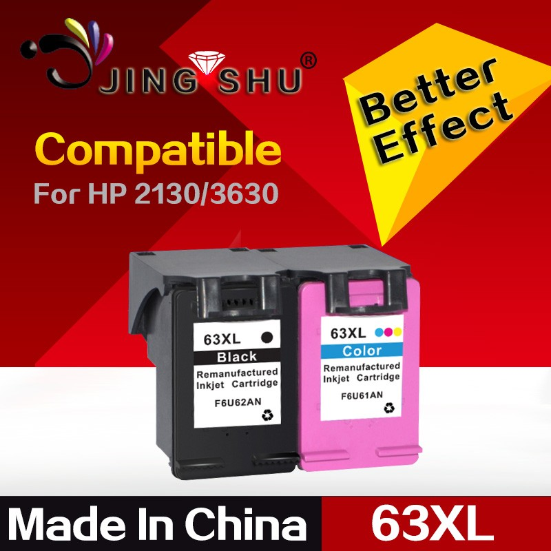 remanufactured ink cartridge 63XL replacement for HP 63 Black & Tri-color ink cartridge 2130,3630,4520,4560