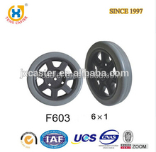 Jiaxing Plastic Updated Wheels PU Industry Foam Bicycle Wheel 6x1mm