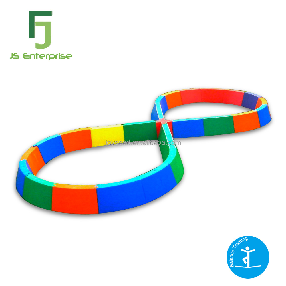 """Figure 8"" Class Size Plastic Indoor Walking Balance Beam Play Set for Kids"