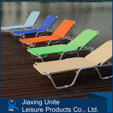 Aluminium frame + texline outdoor sun lounger/beach bed