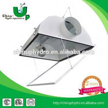 "hydroponics china/ t8 batten fitting double tube/ 200mm 8"" air cooled reflector"