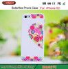 alibaba Wholesale latest popular mobile phone case for ip5 phone cover printing machine Color butterfly case for iphone5c