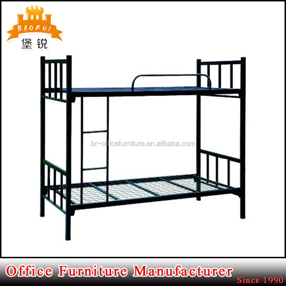 Steel double deck bed - Heavy Duty Steel Double Deck Bed Design Bunk Bed Storage Military Bunk Beds Sale