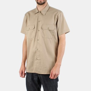 High quality Short sleeve woven twill work shirts uniform