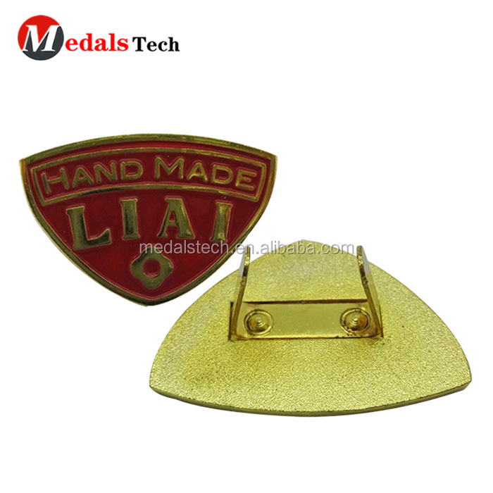 Zinc alloy 3D letter shape silver gold  plated custom metal logo plate for handbags