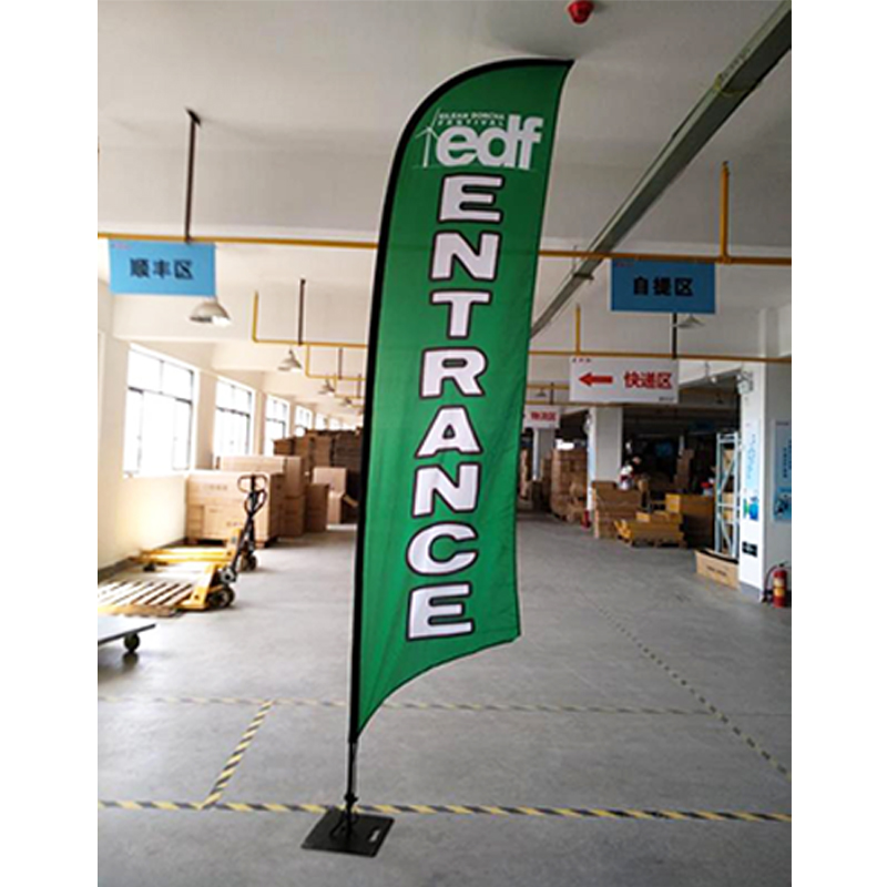 0.8mm thickness Pole High Quality Aluminum Custom Rectangular Flag Beach For Promotion