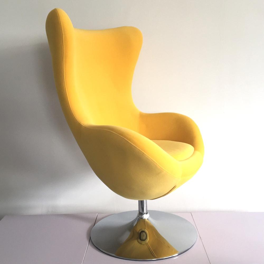 Uberlegen Egg Chair Stoff Eiform Schwenk Wanne Freizeit Stuhl Lebenden Stuhl