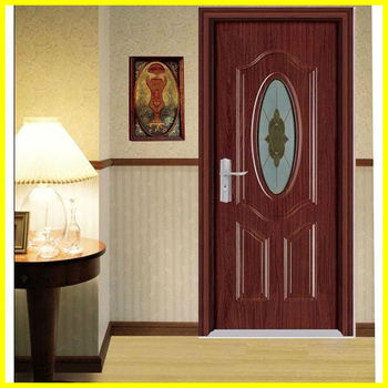 Bg p9091 house front pvc wooden single main door design for Kitchen main door design