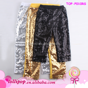 0c194a1605606 2018 Multicolor Shiny Sequin Baby Girls Leggings Pants Fashion Long Pants  Gold/Sliver/Black