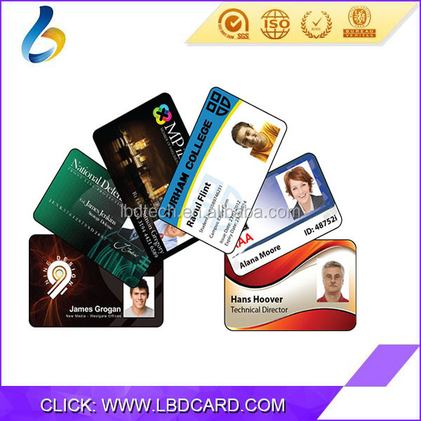 LBD RFID ID TK4100 EM 4305 Chip PVC Identity Card With Photo