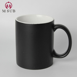 11oz matte black heat sensitive magic color changing mug for sublimation printing