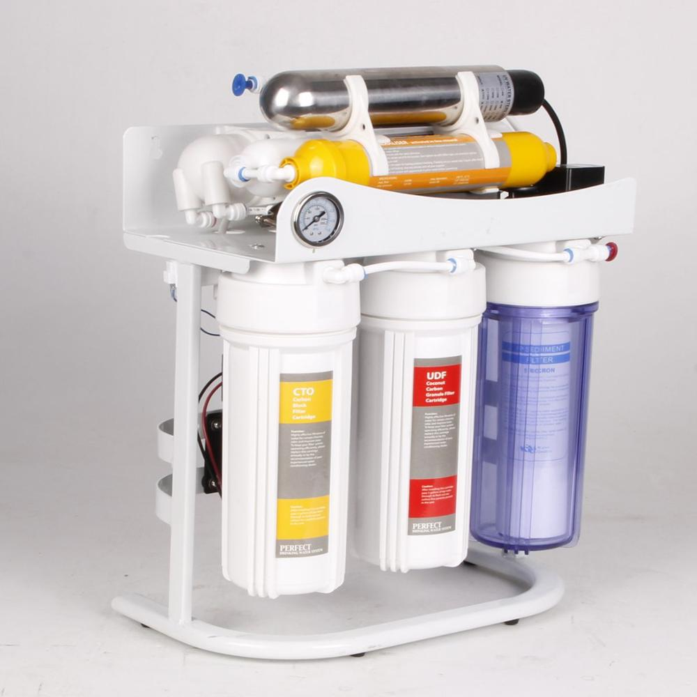 7-Stage Under-Sink Reverse Osmosis Drinking Water <strong>Filtration</strong> System with Alkaline Rem