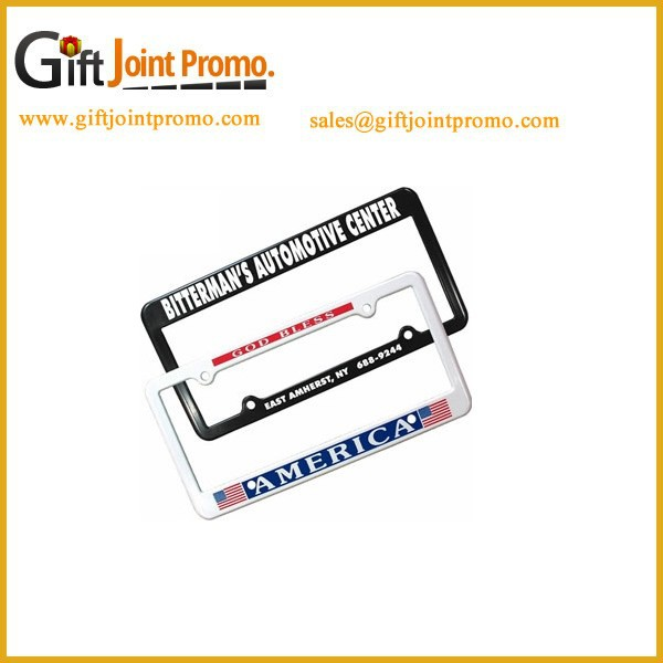 China Wholesale Metal Auto License Plate Frame with LOGO