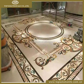 Marble Floor Pattern waterjet marble tile flooring medallion/ design floor pattern