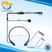 Topradio Two-Way Radio Throat Vibration Mic For KYD/Kydera NC-630A TK-750A TK-760A NC-560 NC-550 NC-6200A 2 Way Radio Earbud